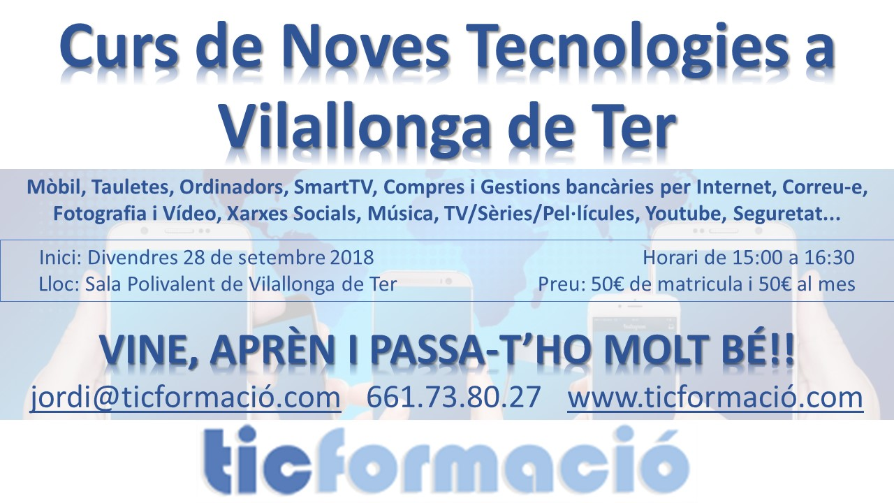 Cartell Curs Noves Tecnologies 2018